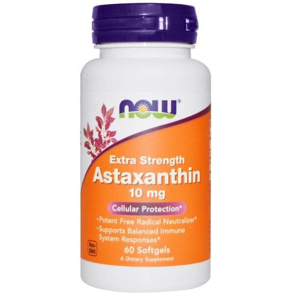 Astaxanthin Natural(Astaxantina)10 mg-60 capsule