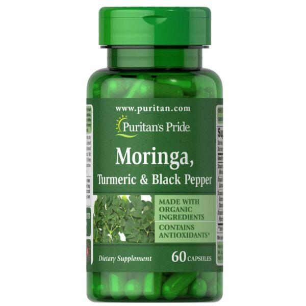 Moringa Turmeric Piper Negru-60 capsule
