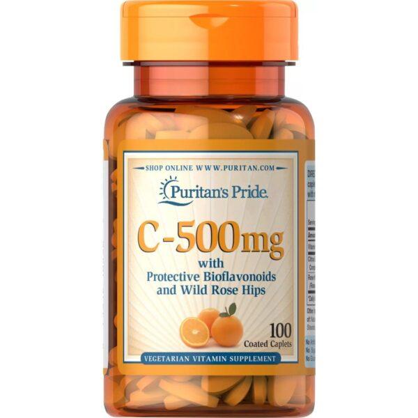 Vitamina C 500 mg cu Bioflavonoide si Macese-100 comprimate